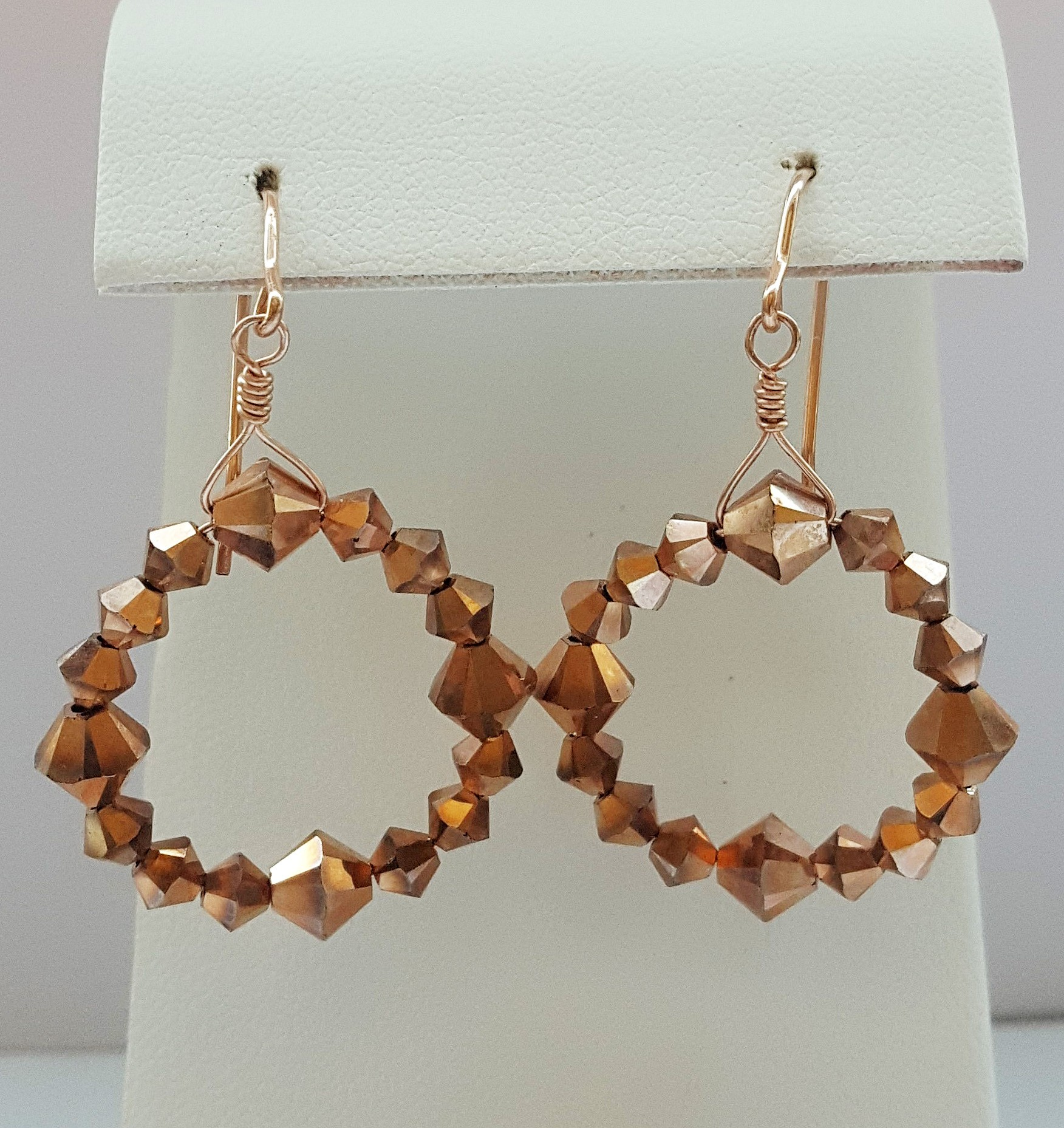 Rosy Golden Hoops